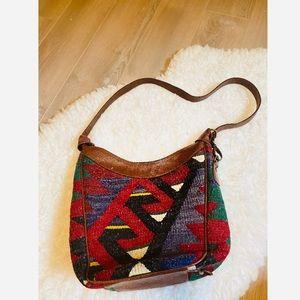 Yun Art Wool & leather Shoulder Bag BoHo Turkish